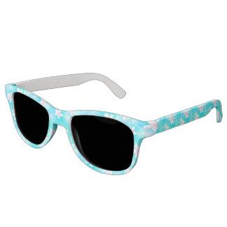 Tropical pink frangipani sunglasses