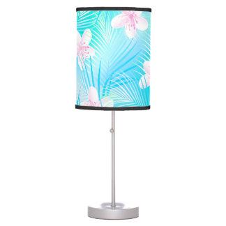 Tropical pink frangipani table lamp