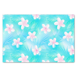 Tropical pink frangipani tissue paper