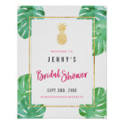 Tropical Pink & Gold Pineapple Bridal Shower Poster