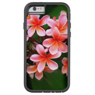 Tropical Pink Green Plumeria Flower Floral Photo Tough Xtreme iPhone 6 Case