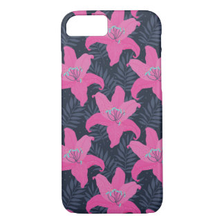 Tropical Pink Hibiscus Flower iPhone Phone Case