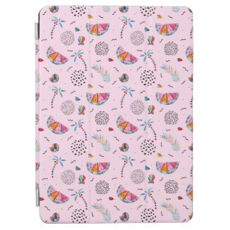 Tropical Pink Memphis Style Pattern iPad Air Cover