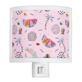Tropical Pink Memphis Style Pattern Nite Lights