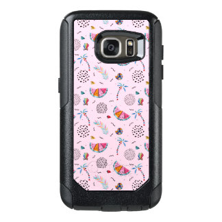 Tropical Pink Memphis Style Pattern OtterBox Samsung Galaxy S7 Case