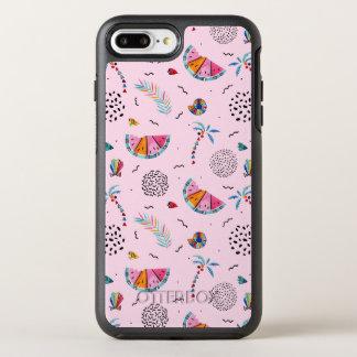 Tropical Pink Memphis Style Pattern OtterBox Symmetry iPhone 8 Plus/7 Plus Case
