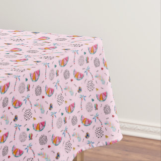 Tropical Pink Memphis Style Pattern Tablecloth