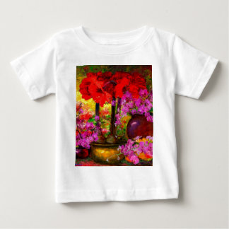 TROPICAL PINK ORCHIDS RED AMARYLLIS STILL LIFE BABY T-Shirt