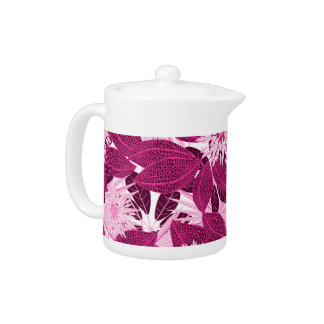 Tropical pink spotted floral