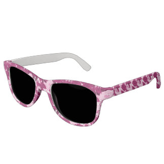 Tropical pink spotted floral sunglasses
