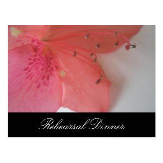 Tropical Pink wedding Postcard