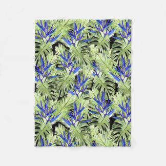 Tropical plant 2 fleece blanket