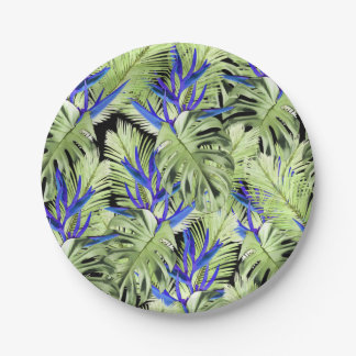 Tropical plant 2 paper plate