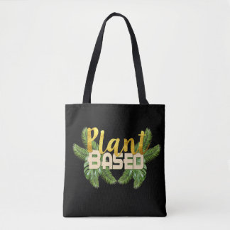 Tropical Plant Based Tote Bag
