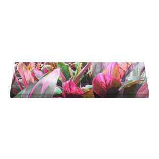 Tropical Plant Foliage Garden Wrapped Canvas Art