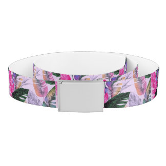 Tropical Plant Pattern Belt