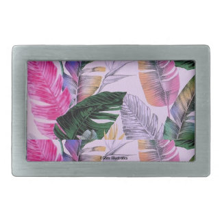 Tropical Plant Pattern Belt Buckle