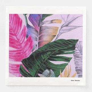 Tropical Plant Pattern Napkins Disposable Napkins