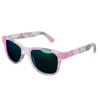 Tropical Plant Pattern Ocean Sunglasses