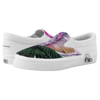 Tropical Plant Pattern Slip On Shoes