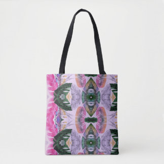 Tropical Plant Pattern Tote Bag