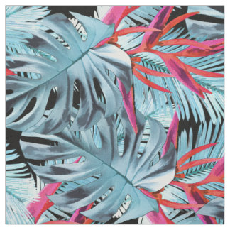 Tropical plants 1 fabric