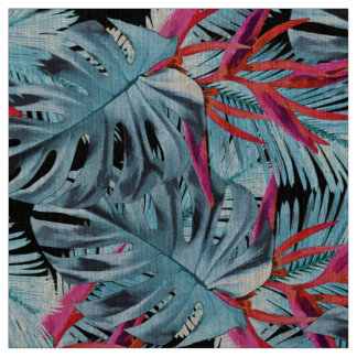 Tropical plants 1 . fabric