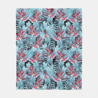 Tropical plants 1 . fleece blanket