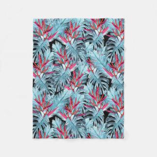 Tropical plants 1 fleece blanket