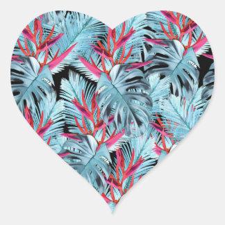Tropical plants 1 . heart sticker