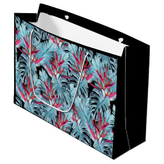 Tropical plants 1 . large gift bag