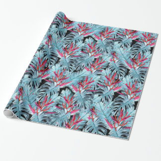 Tropical plants 1 . plants , leaves , tropical , wrapping paper