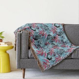 Tropical plants 1 . throw blanket
