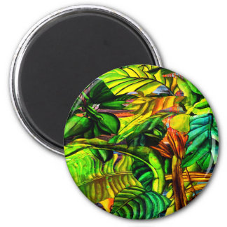Tropical Plants 2 Inch Round Magnet