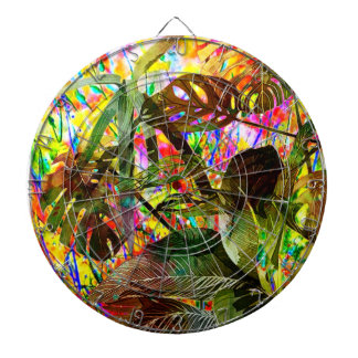 Tropical Plants and Flowers Dartboard