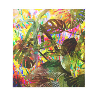 Tropical Plants and Flowers Notepad
