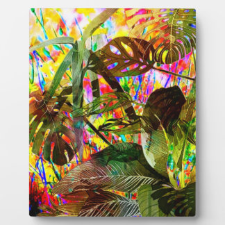 Tropical Plants and Flowers Plaque