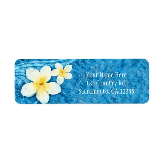 Tropical Plumeria Flower Blue Summer Invitation