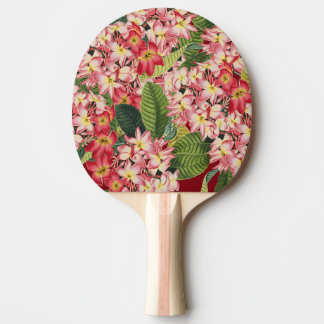 Tropical Plumeria Flowers Floral Paddle Ping-Pong Paddle