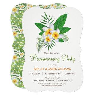Tropical Plumeria Housewarming Party Invitation