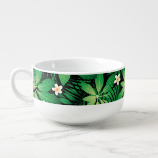 Tropical plumeria lush forest soup mug