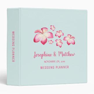 Tropical Plumeria Personalized Wedding Planner Vinyl Binder