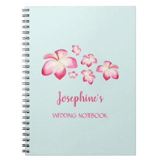 Tropical Plumeria Wedding Planning Notebook