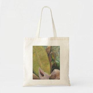 TROPICAL PORCH VIEW Tote Budget Tote Bag