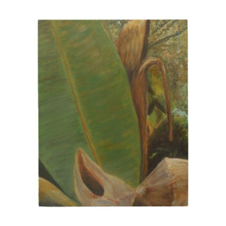 TROPICAL PORCH VIEW Wood Wall Art