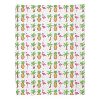 Tropical Print Palm Tree Pineapple Flamingo Duvet