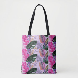 Tropical Print Pattern Tote Bag
