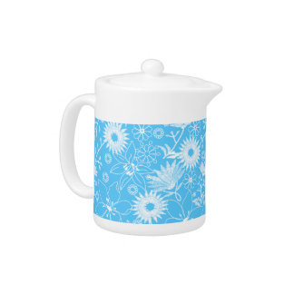 Tropical printred embroidery blue floral