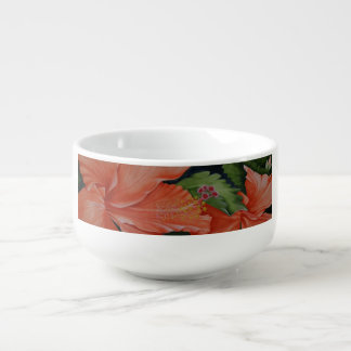 Tropical Pumpkin Hibiscus Flowers Soup Mug