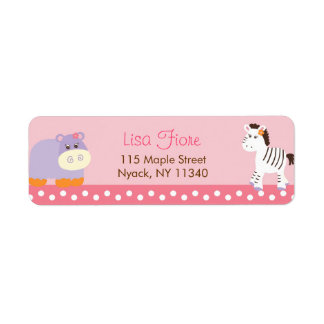 Tropical Punch Jungle Animal Address Labels
